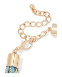 Kenneth Jay Lane - Metallic Gold-tone And Cord Necklace - Lyst