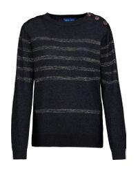 M.i.h Jeans - Blue Sophia Breton Metallic Striped Cotton-blend Sweater - Lyst