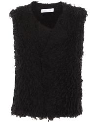 IRO - Black Bellay Fringed Cotton-blend Cardigan - Lyst