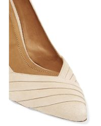 IRO - Natural Pia Pleated Suede Pumps - Lyst