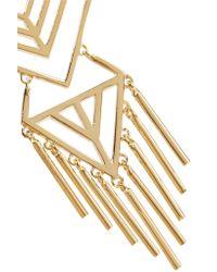 Noir Jewelry | Metallic Aztec Gold-tone Earrings | Lyst