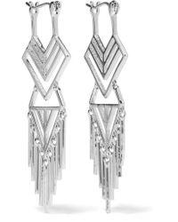 Noir Jewelry | Metallic Aztec Silver-tone Earrings | Lyst