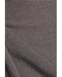 Enza Costa - Gray Stretch-jersey Top - Lyst