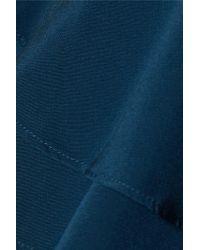 W118 by Walter Baker - Blue Sofie Ruffled Silk Top - Lyst