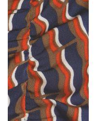 Diane von Furstenberg - Multicolor Lexia Printed Stretch Silk-blend Satin Skirt - Lyst