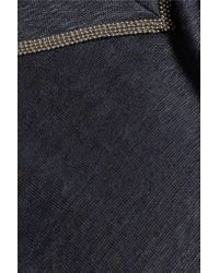 Brunello Cucinelli - Blue Embellished Linen-blend Top - Lyst