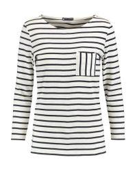 Petit Bateau | White Striped Cotton-jersey Top | Lyst