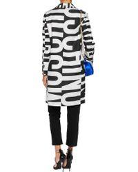 Moschino - Black Printed Wool-blend Twill Coat - Lyst