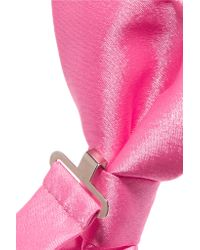 Moschino - Pink Bow-embellished Satin Collar - Lyst