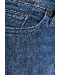 7 For All Mankind | Blue The Straight Low-rise Slim-leg Jeans | Lyst