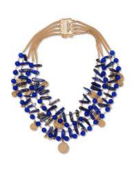 Rosantica - Metallic Gold-tone Beaded Necklace - Lyst