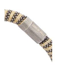 Carolina Bucci - Metallic Silver-tone Braided Crystal Bracelet - Lyst