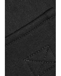 Norma Kamali | Black Cotton-blend Jersey Track Pants | Lyst
