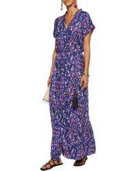 Matthew Williamson - Purple Printed Silk-satin Kimono - Lyst