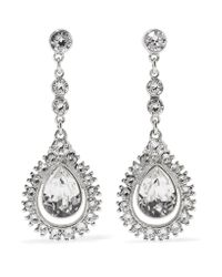 Ben-Amun - Metallic Silver-plated Crystal Earrings - Lyst