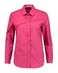 Carven | Pink Embroidered Cotton-poplin Shirt | Lyst