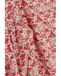 Eberjey - Red Wild Tribe Clara Printed Twill Coverup - Lyst