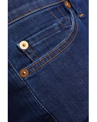 7 For All Mankind - Blue The Skinny Mid-rise Jeans - Lyst