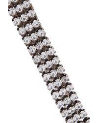 Elizabeth Cole - Metallic Gunmetal-tone Crystal Necklace - Lyst