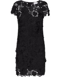 MILLY - Woman Chloe Giupure Lace Mini Dress Black Size 12 - Lyst