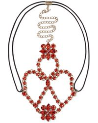 Valentino - Red Gold-tone Crystal Headpiece - Lyst