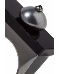 Valentino - Multicolor Gunmetal-tone Enamel Ring - Lyst