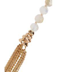 Kenneth Jay Lane - Metallic Tasseled Gold-tone Crystal Necklace - Lyst