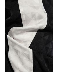 Zeus + Dione - Black Alcyone Wrap-effect Silk-jacquard Wide-leg Pants - Lyst