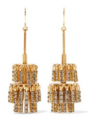 Elizabeth Cole - Metallic Jayne Gold-tone Crystal Earrings - Lyst