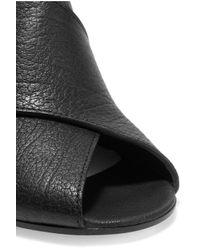 Maison Margiela - Black Textured-leather Sandals - Lyst