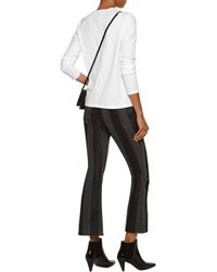 J Brand - White Montara Slub Cotton-jersey Top - Lyst