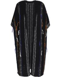 Antik Batik - Black Open-knit Cotton-blend Cardigan - Lyst