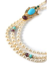 Ben-Amun - Metallic Gold-tone, Stone And Crystal Beaded Necklace - Lyst