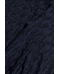 Carven - Blue Matelassé Jersey Top - Lyst