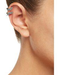 Noir Jewelry - Multicolor Gold-tone Crystal Ear Cuffs - Lyst