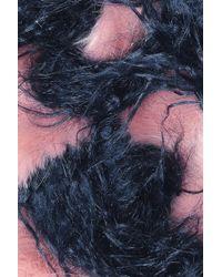 Shrimps - Blue Marine Faux-fur Scarf - Lyst