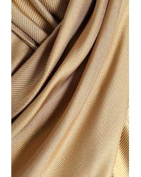 Temperley London Metallic Wrap-effect Silk-twill Blouse