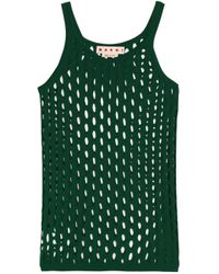 Marni - Green Open-knit Cotton Top - Lyst