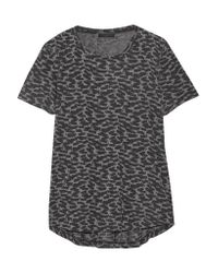 Belstaff - Gray Posy Printed Stretch-jersey T-shirt - Lyst