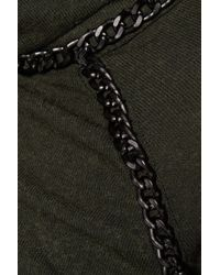 Bailey 44 - Chain-trimmed Knitted Turtleneck Sweater Army Green Size M - Lyst