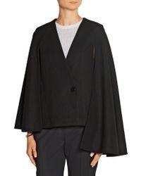 Tibi - Black Quecha Felted Wool-blend Cape - Lyst