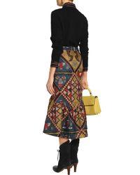 Stella Jean - Black Embroidered Virgin Wool Sweater - Lyst