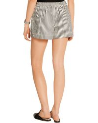 3.1 Phillip Lim - White Striped Cotton-blend Jersey Shorts - Lyst