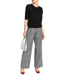 Simone Rocha - Black Appliquéd Merino Wool, Silk And Cashmere-blend Sweater - Lyst