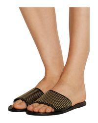 Ancient Greek Sandals - Black Taygete Studded Leather Slides - Lyst