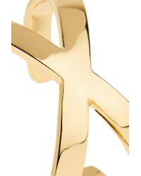 Noir Jewelry | Metallic Gold-plated Cuff | Lyst