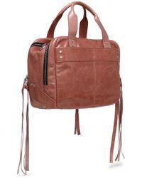 McQ Alexander McQueen - Multicolor Fringe-trimmed Crinkled Leather Shoulder Bag Antique Rose - Lyst