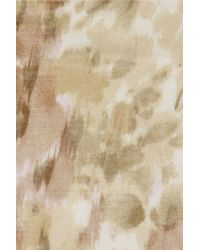 Aerin - Natural Printed Modal And Silk-blend Scarf - Lyst