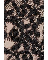 Alice + Olivia - Black Embellished Guipure Lace Shorts - Lyst