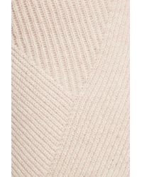 Duffy - Multicolor Cold-shoulder Ribbed-knit Wool And Cashmere-blend Sweater - Lyst